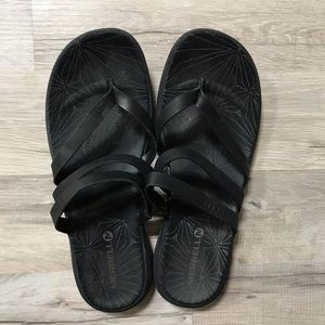 Merrell Duskair Seaway Leather Flip Flops